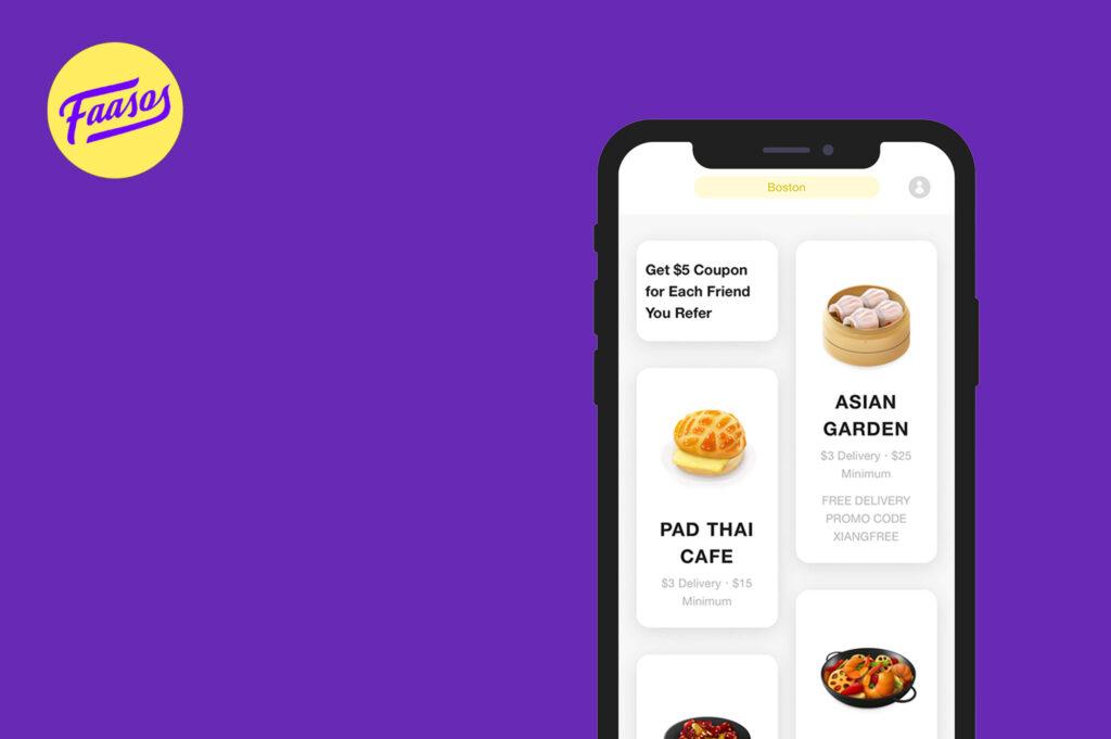 Faasos online food deliver app development cost