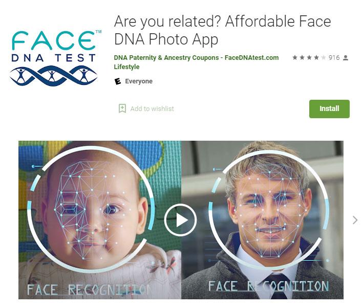 face-DNA-test-app